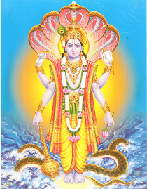 Lord Vishnu And Adhiseshan